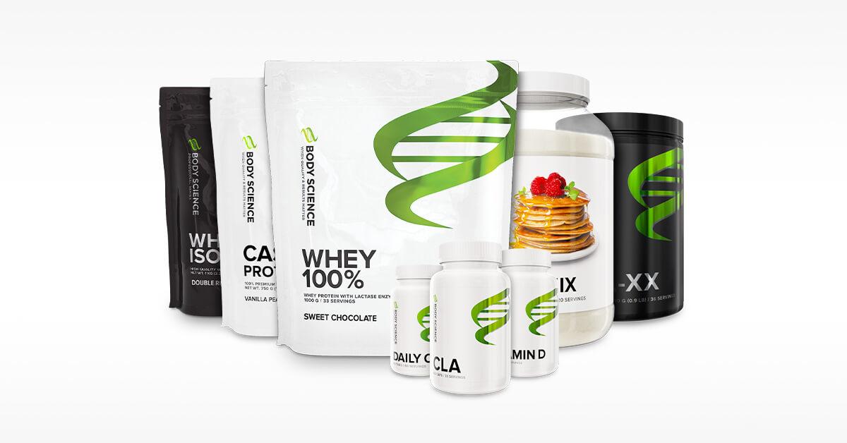 Olika kosttillskott från Body Science