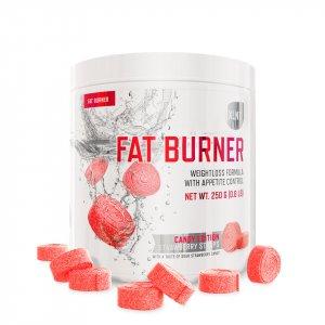 En burk med XLNT Sports Fettförbrännare med smak av Strawberry Straps