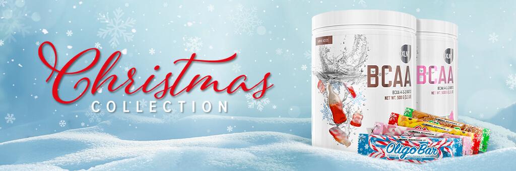 Christmas Collection med BCAA + Oligo bars i snön
