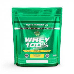 Gammal Body Science Whey 100%-påse