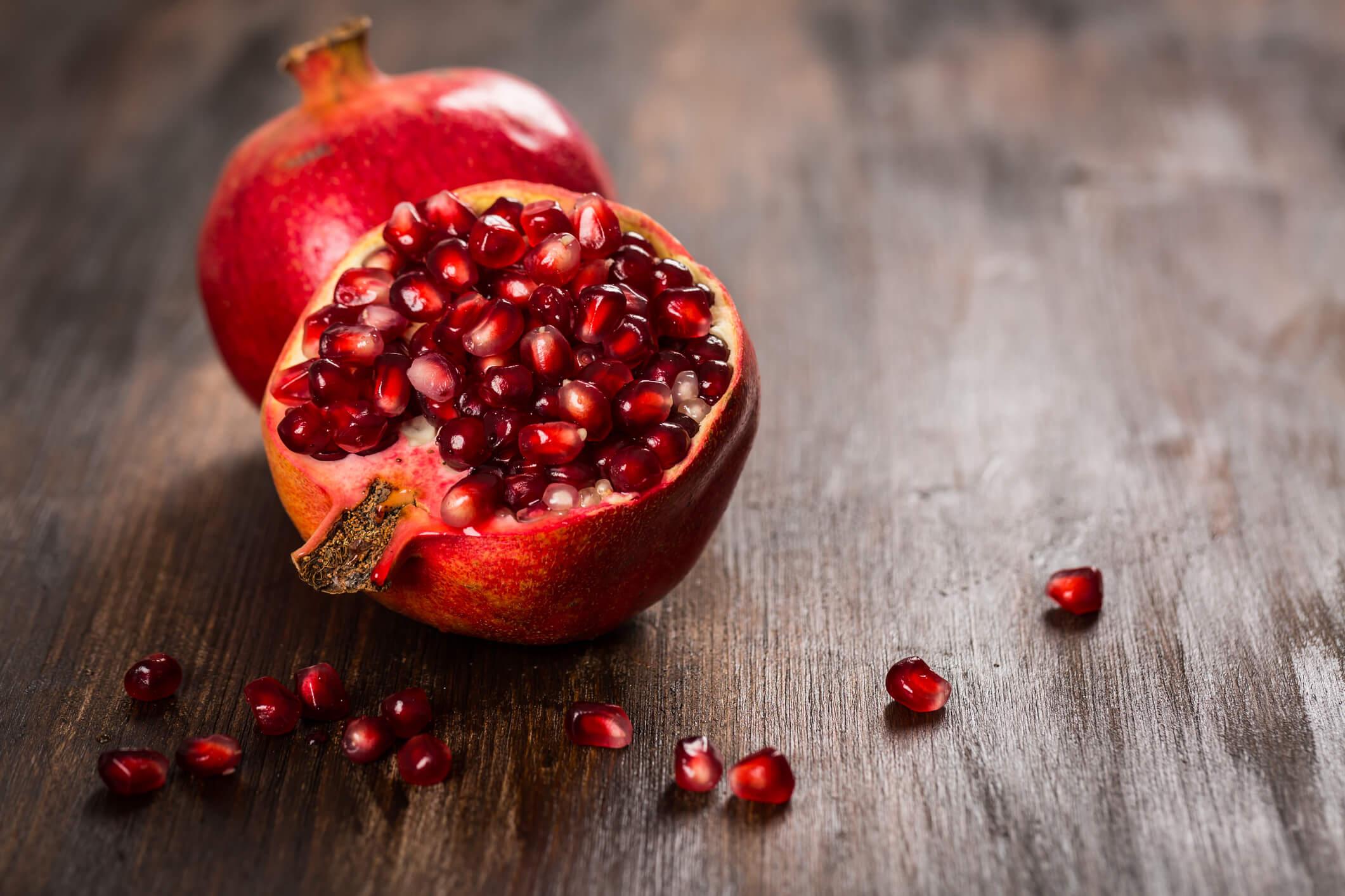 Granatäpple med ellaginsyra och antioxidanter