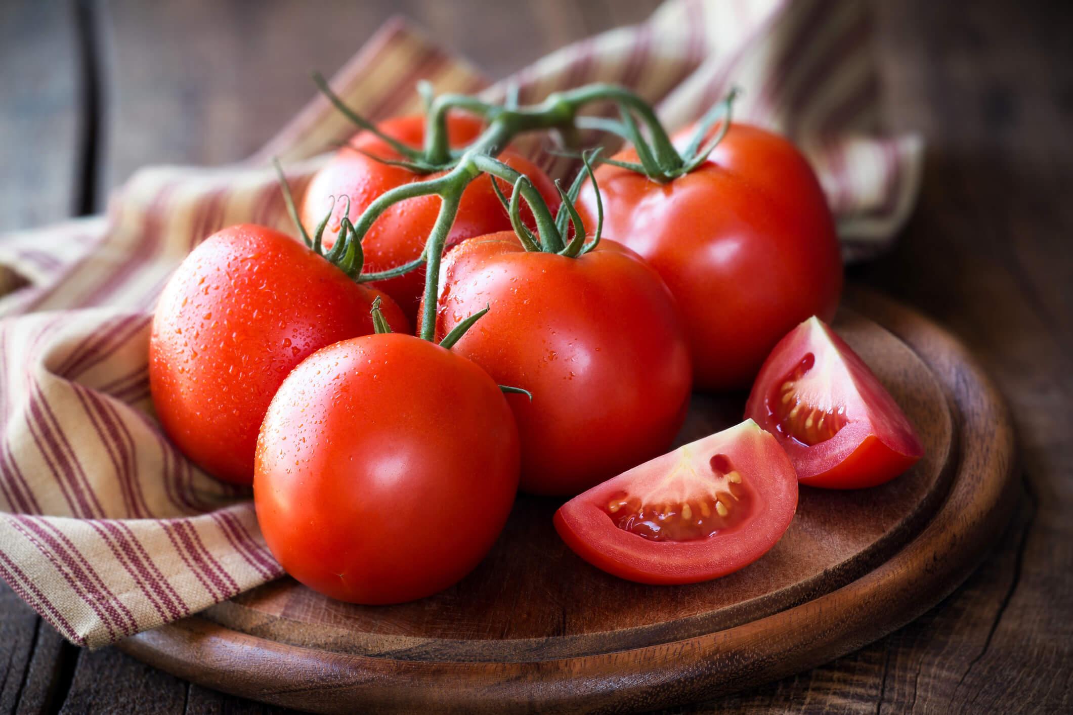 Tomat med lykopen som skyddar huden