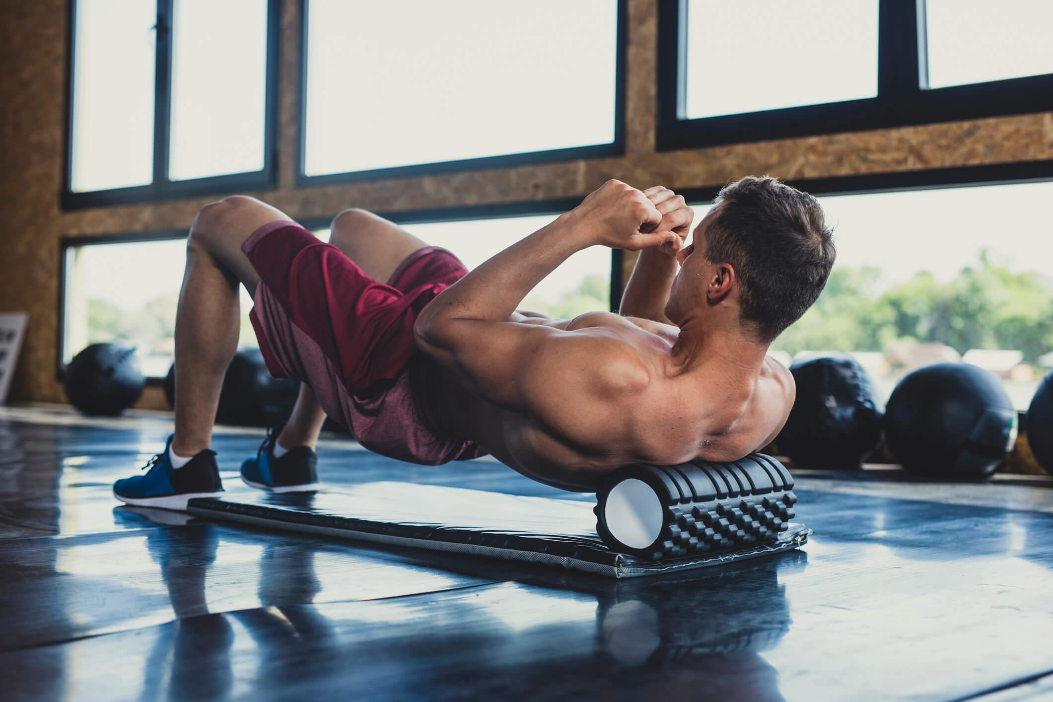 Foam roller skulderblad och nacke övningar