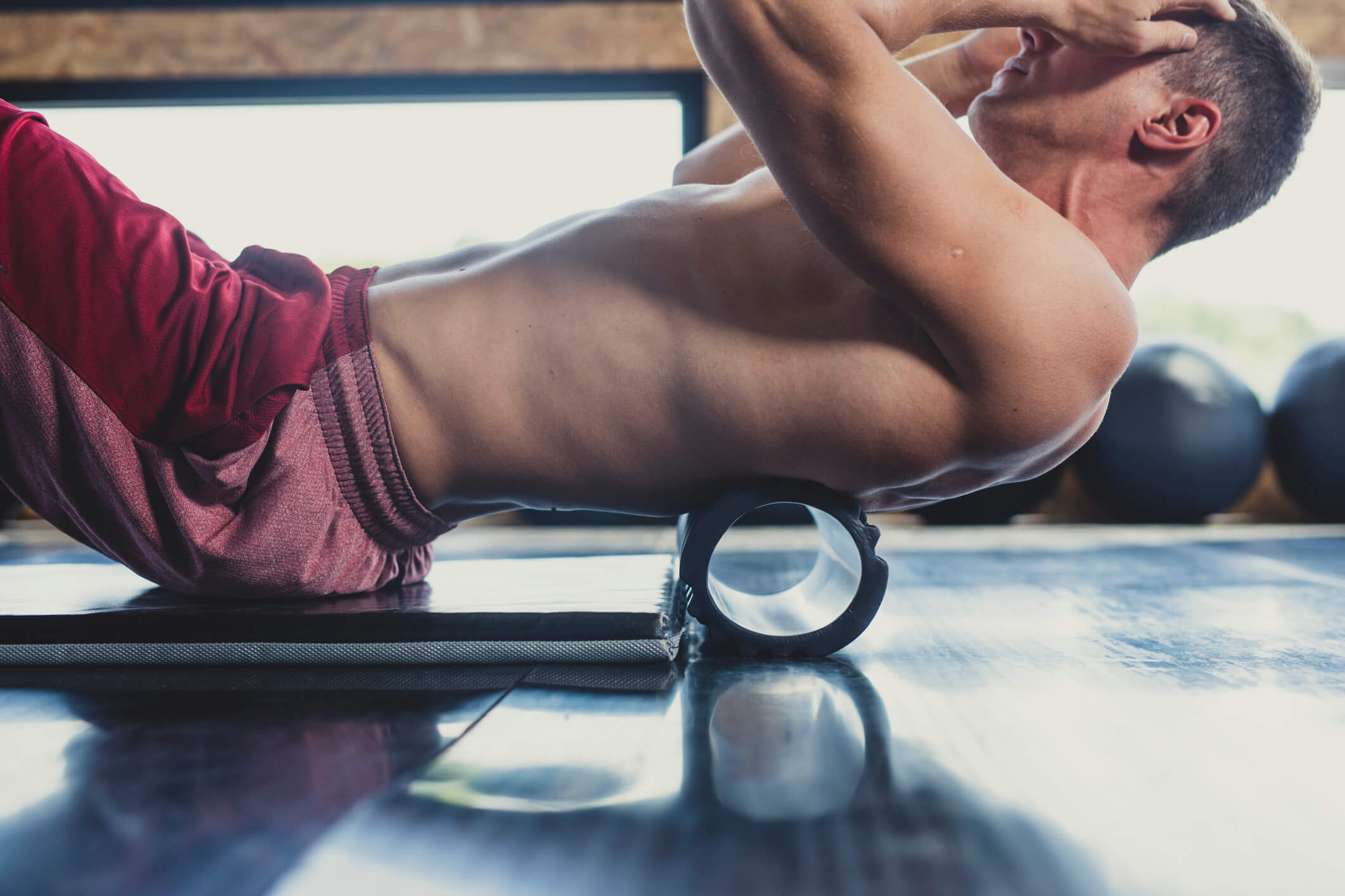Foam roller rygg övningar