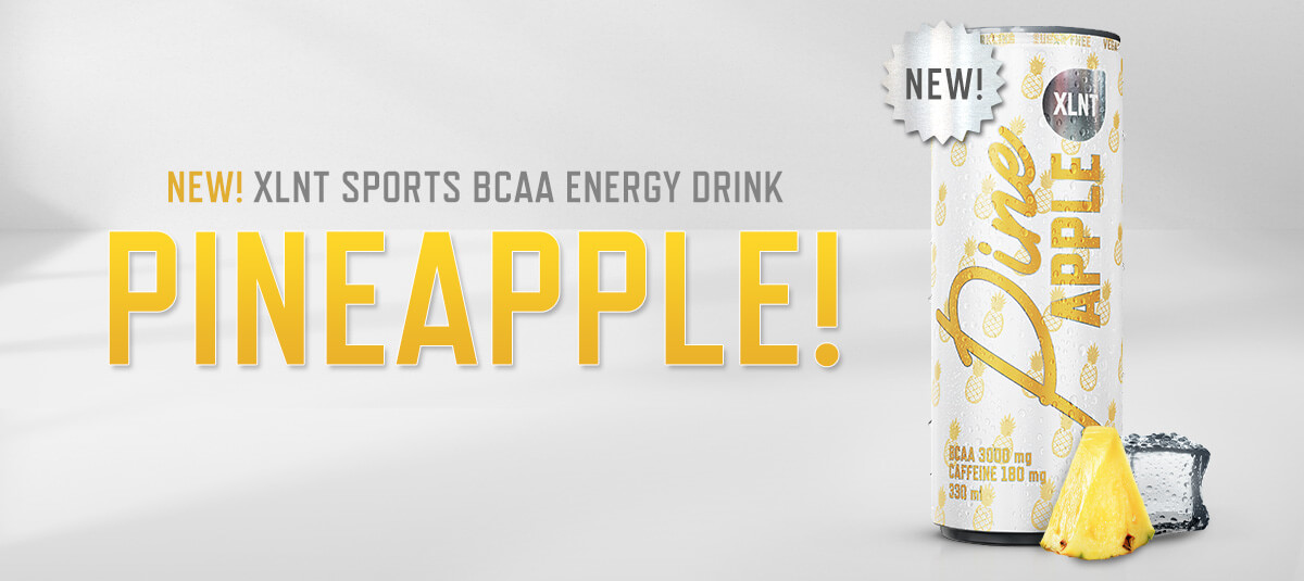 XLNT Sports BCAA Energy Drink Pineapple