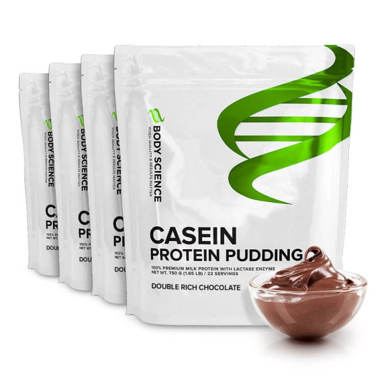 Body Science Casein Protein Pudding - Double Rich Chocolate