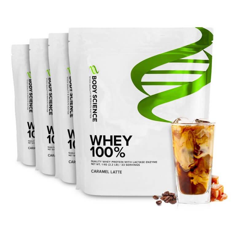 Body Science Whey 100% proteinpulver - Caramel Latte