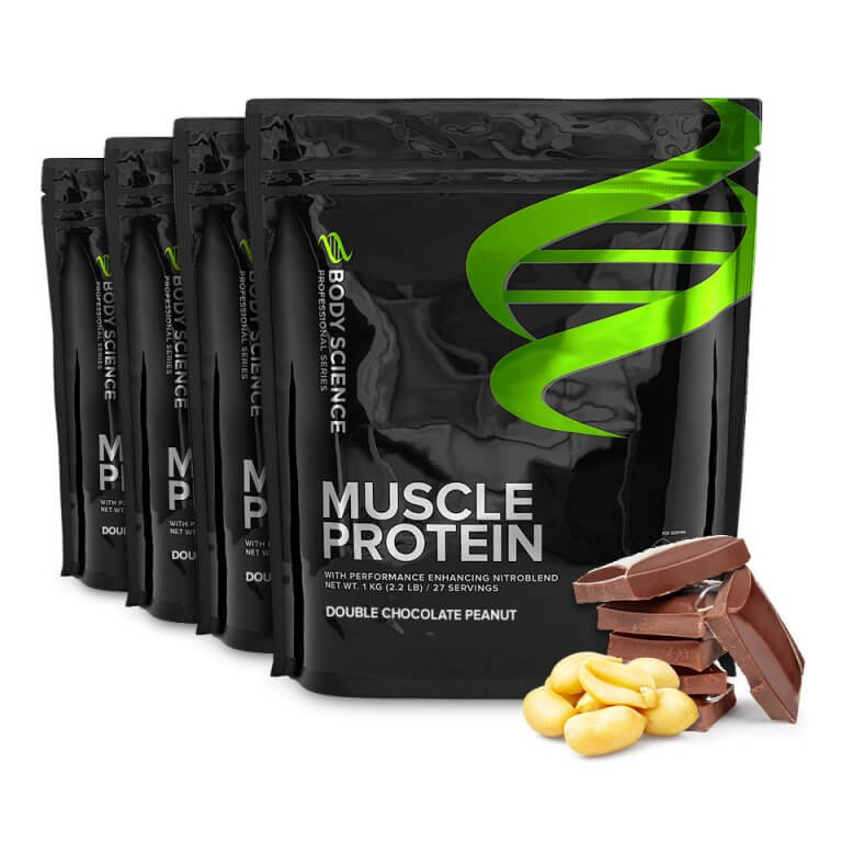 Body Science Muscle Protein Double Chocolate Peanut - Proteinpulver