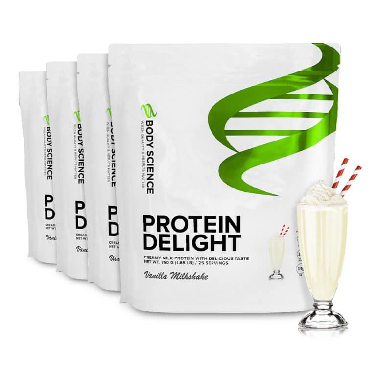 Body Science Protein Delight Vanilla Milkshake - Proteinpulver