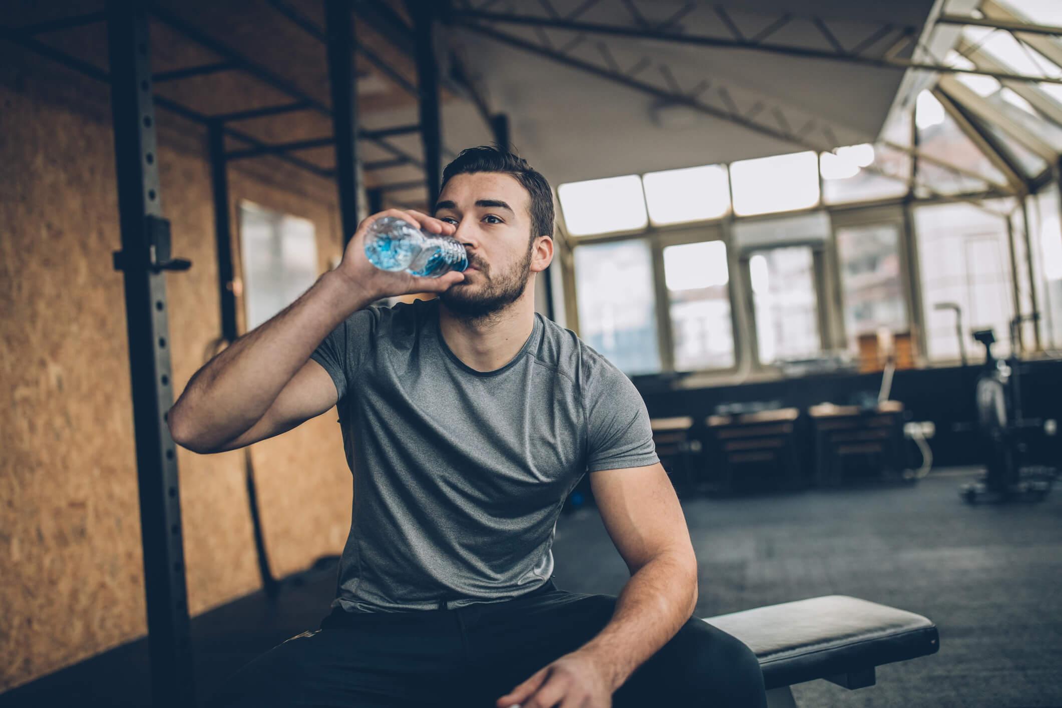 gym vattenflaska träning