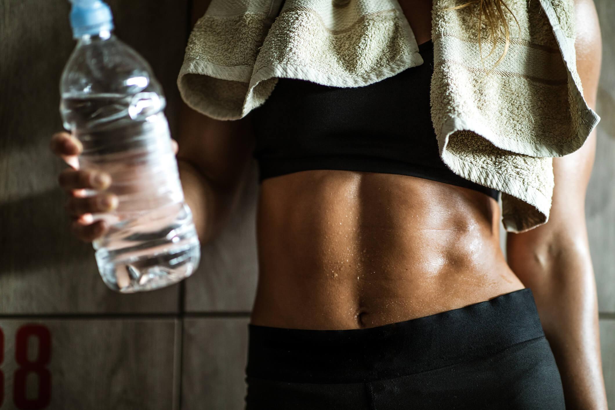 träning vattenflaska